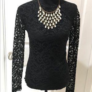 VS black lace bodysuit